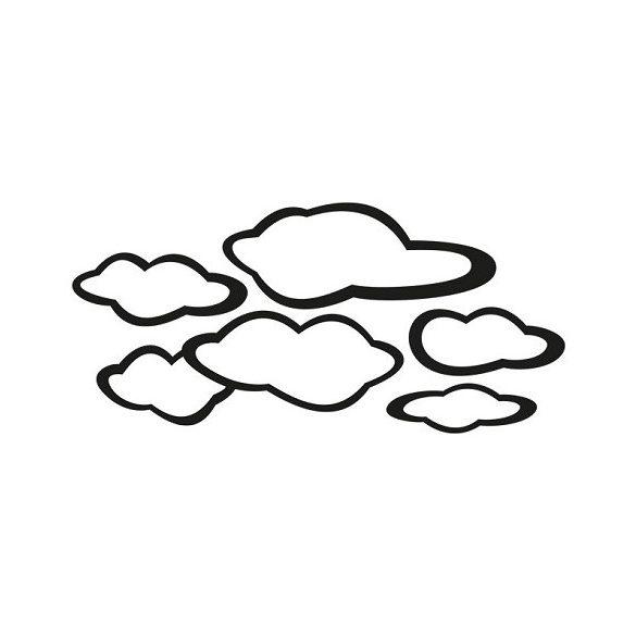 Felhők, babaszoba falmatrica csomag 6 db felhővel a Dekormatricák webáruházban