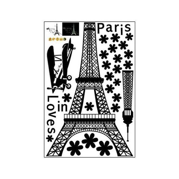 Párizs, éjjel világító falmatrica
