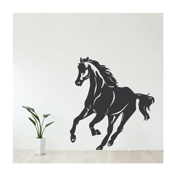 Futó ló, lovas falmatrica a Dekormatricák falmatrica webáruháztól