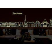 Szentpétervár, éjjel világító falmatrica
