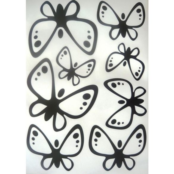Pillangók fekete kontúrral