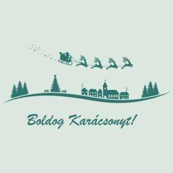 Fantasztikus Karácsony, kirakatmatrica a Dekormatricák Webáruházban