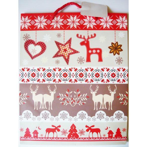 Szarvasok karácsonyi ajándéktáska, L méret a Dekormatricák webáruháztól