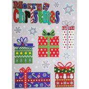 Merry Christmas, csillámos ablakmatrica karácsonyra a Dekormatricák webáruházban