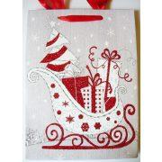 Mikulásszán, karácsonyi ajándéktáska, M méret a Dekormatricák webáruháztól