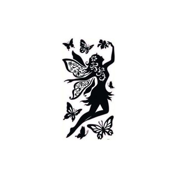Tündér pillangókkal, falmatrica a Dekormatricák Webáruház falmatrica kínálatából