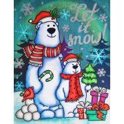 Jegesmacik, csillámos ablakmatrica karácsonyra a Dekormatricák webáruházban