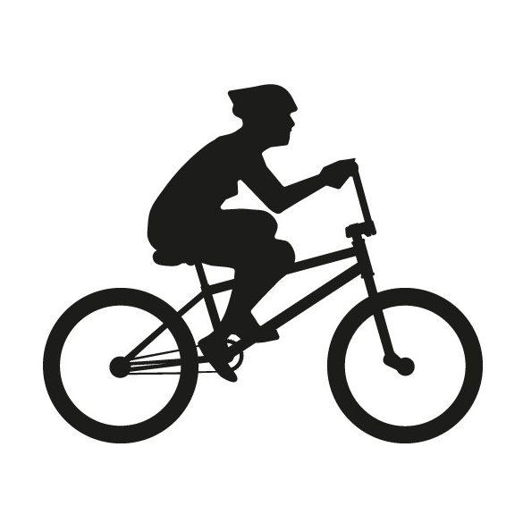 Biciklis, autómatrica a Dekormatricák webáruház matricái közül