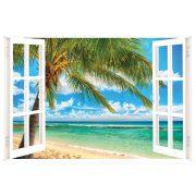 Nyár az óceán partján, ablakos falmatrica a Dekormatricák Webáruházban