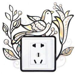 Madárka, kontúrmatrica villanykapcsoló köré
