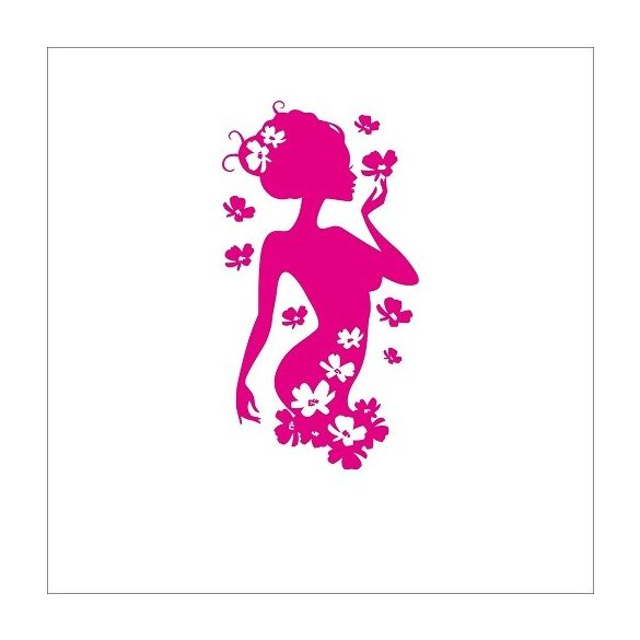 Viráglány, falmatrica a Dekormatricák webáruházban 48 színben