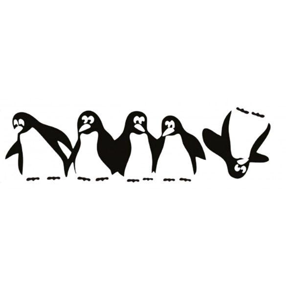 Nonfiguratív virág és pillangó, hűtömatrica