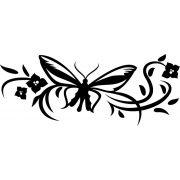 Pillangó nonfiguratív virággal