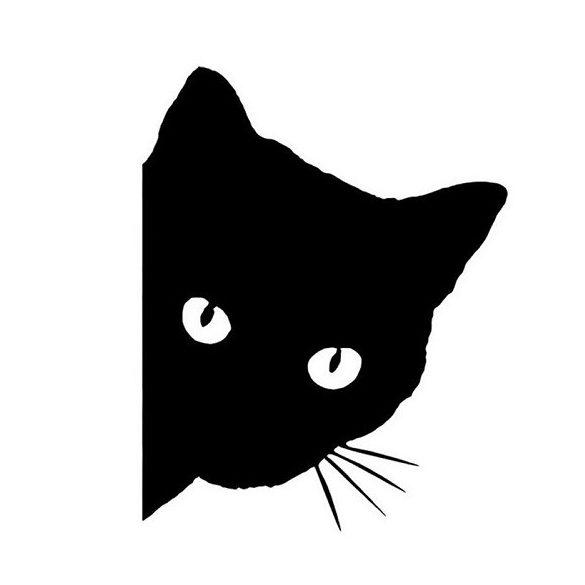 Kukucskáló cica, autómatrica a Dekormatricák Autómatrica Webáruházban