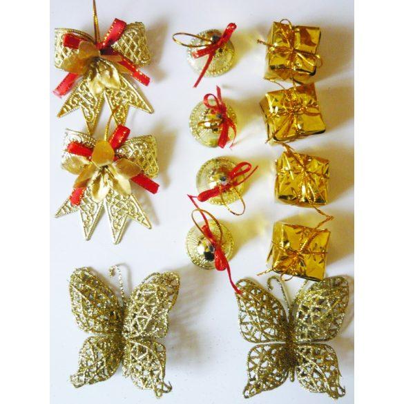 Arany színű karácsonyfa díszek a Dekormatricák dekorációs webáruházban