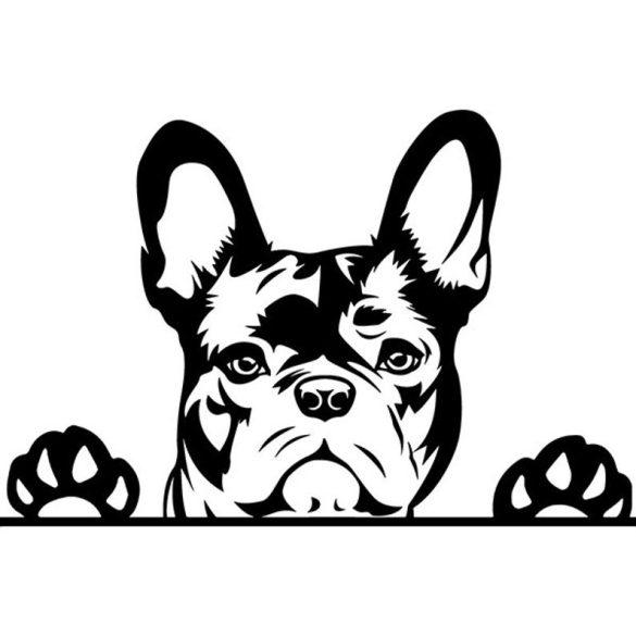 Francia bulldog 2 autómatrica a Dekormatricák webáruház matricái közül