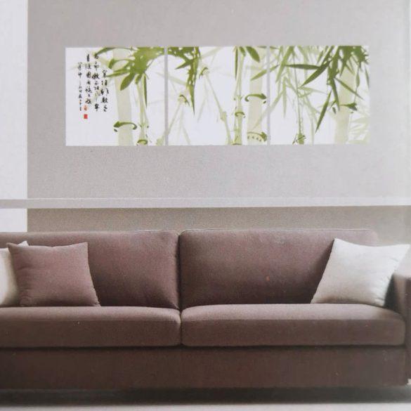 Bambuszok, 3 részes falikép, falmatrica szett