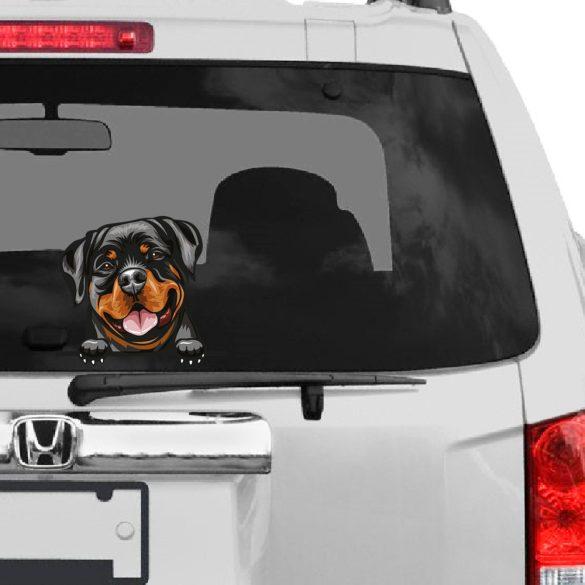 Rottweiler rajzos autómatrica a Dekormatricák webáruház matricái közül
