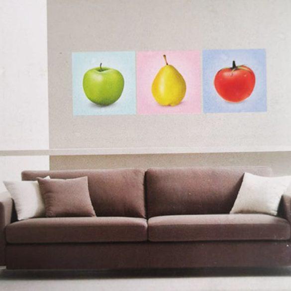 Gyümölcsök, 3 részes falikép, falmatrica szett
