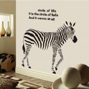Zebra felirattal, falmatrica
