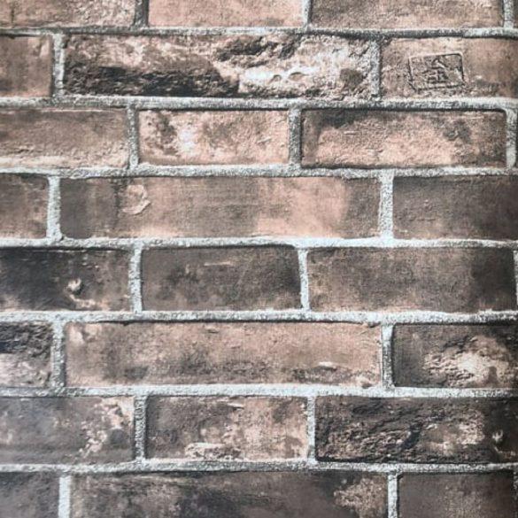 Barna téglamintás öntapadós tapéta