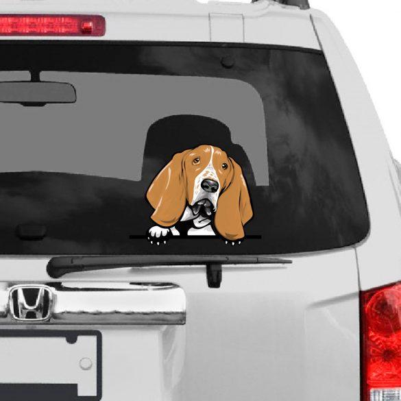 Basset Hound rajzos autómatrica a Dekormatricák webáruház matricái közül
