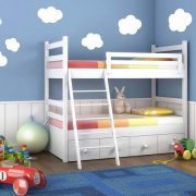 Felhők, 7 db-os gyerekszoba falmatrica csomag a Dekormatricák webáruháztól