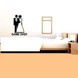 Game over, egyedi falimatrica legénybúcsúra a Dekormatrticák Webáruháztól