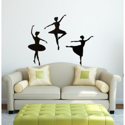 Táncolo balerinák, falmatrica a Dekormatricák Falmatrica Webáruházban