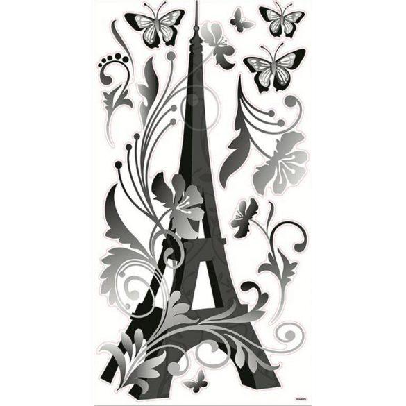 Eiffel torony pillangókkal, falmatrica