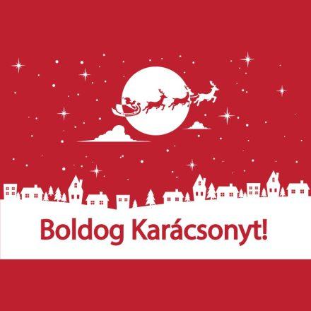 Boldog Karácsonyt, kirakatmatrica a Dekormatricák Webáruházban