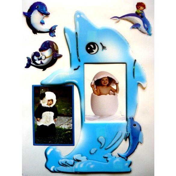 Delfin, 3D fényképkeret matrica