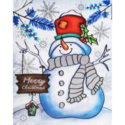 Hóember, csillámos ablakmatrica karácsonyra a Dekormatricák webáruházban