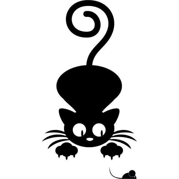 Egerésző cica, cicás falmatrica a Dekormatricák webáruház állatos falmatricái közül