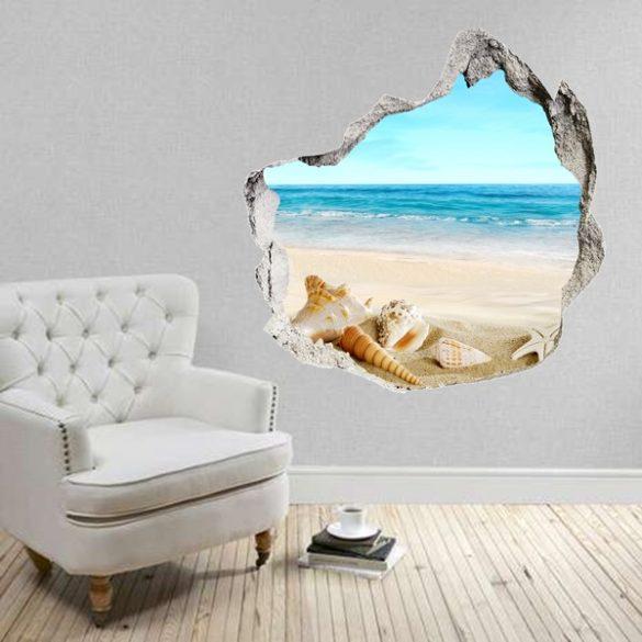 Kitört falon át a tenger, falmatrica a Dekormatricák Webáruházból