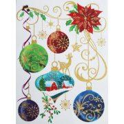 A Karácsony díszei, csillámos ablakmatrica Karácsonyra - Dekormatricák webáruház