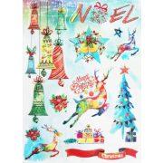 Christmas, csillámos ablakmatrica Karácsonyra - Dekormatricák webáruház