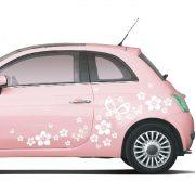 Pillangók, virágok, pöttyök, autómatrica a Dekormatricák Webáruház matricái közül