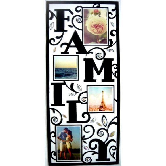 Family, fekete kontúrmatrica fényképkeretekkel