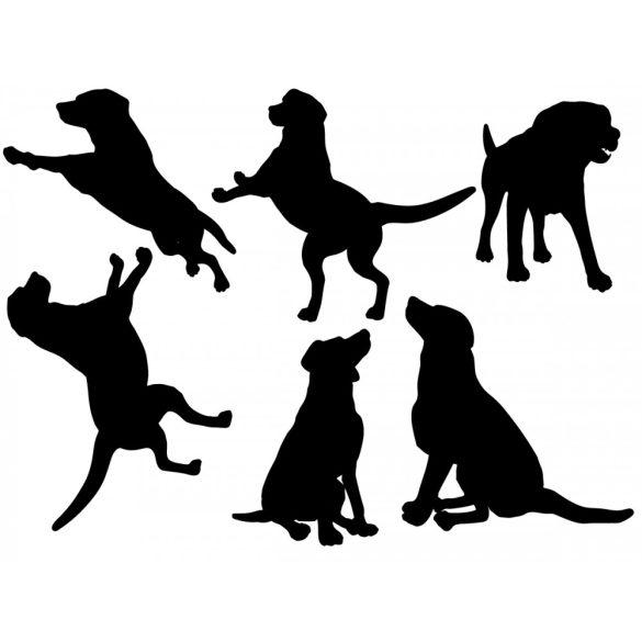 Játékos kiskutyák, kutyás falmatrica a Dekormatricák falmatrica webáruházban