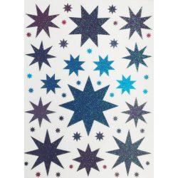 Csillagok, csillámos ablakmatrica - Dekormatricák webáruház dekormatricák termékeiből