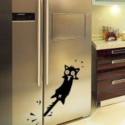 Pórul járt macska, hűtőmatrica