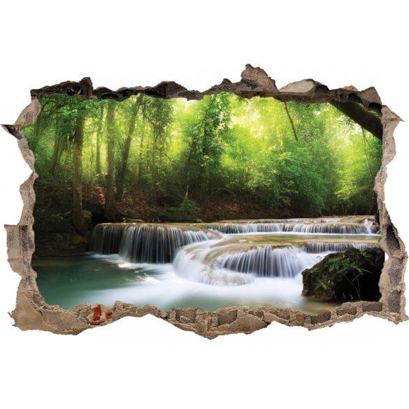 Erdő vízeséssel, falmatrica a Dekormatricák Webáruházból