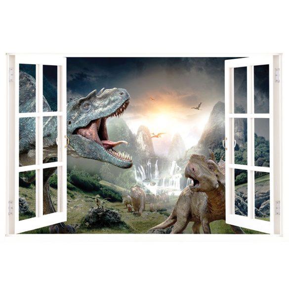 Dínók, ablakos falmatrica a Dekormatricák Webáruházban