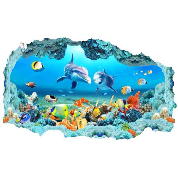 Kíváncsi delfinek, falmatrica a Dekormatricák Webáruházból