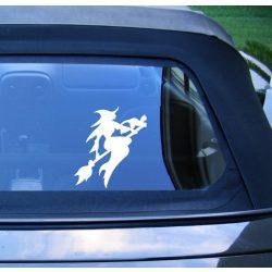 Boszorkány autómatrica a Dekormatricák webáruház matricái közül