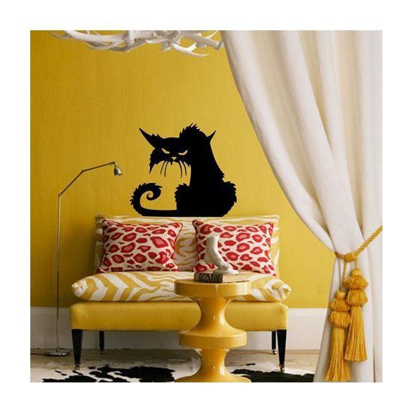 Mérges macska, cicás falmatrica a Dekormatricák Falmatrica Webáruházban