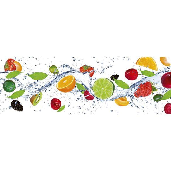 Gyümölcsök, konyhai matrica hátfal, 180 cm