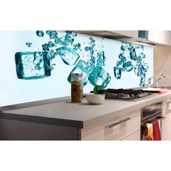 Jégkockák, konyhai matrica hátfal, 180 cm