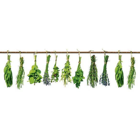 Fűszernövények, konyhai matrica hátfal, 180 cm